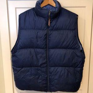L.L. Bean Navy Blue Reversible Vest. Men's large